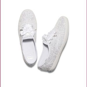 Keds Kate Spade new York champion glitter white